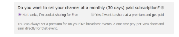 Premium Posting option of pheed